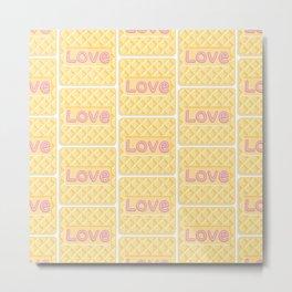 Wafer Cookie Love - Pattern Metal Print