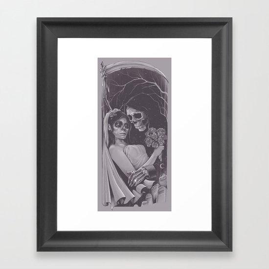 Death Won't Do Us Part Framed Art Print