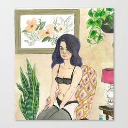Margaret: Boudoir Girl Canvas Print