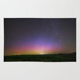 Colorful Aurora Borealis Night Sky Rug