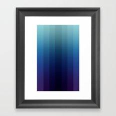 Steps 2-Blue Ombre Framed Art Print