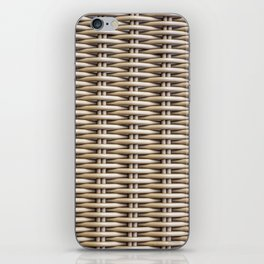 Closeup rattan wickerwork texture iPhone Skin
