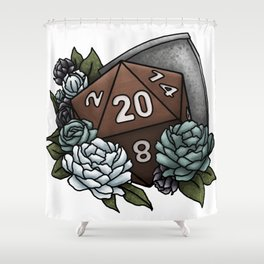 Paladin Class D20 - Tabletop Gaming Dice Shower Curtain