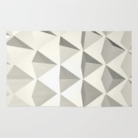 pyramid Area & Throw Rugs featuring Pyramid by Lauren Miller