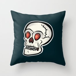 Mr. Skull (Blue) Throw Pillow
