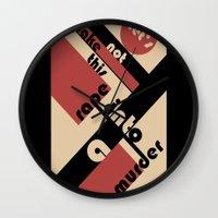 bauhaus Wall Clocks featuring Bauhaus by Disfigured Circumstance
