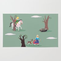 fairy tale Area & Throw Rugs featuring fairy tale by notbook