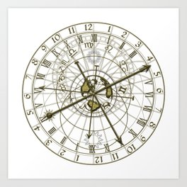 metal astronomical clock Art Print