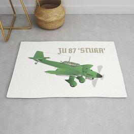Junkers Ju 87 Stuka Bomber Airplane Rug