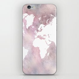 Design 66 world map iPhone Skin