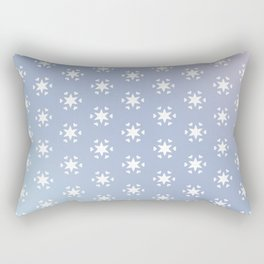 white star and heart on blue background Rectangular Pillow