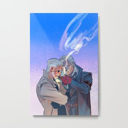 Metal Gear Solid - Big Boss and Ocelot Metal Print