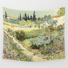 Vincent Van Gogh : Garden at Arles Wall Tapestry