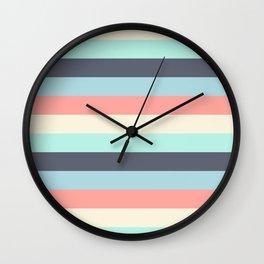 Bright Happy Stripe Pattern Modern Simple Mid Century Wall Clock