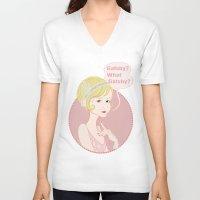 gatsby V-neck T-shirts featuring Gatsby / Daisy Buchanan by AnaMF