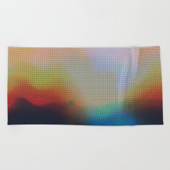 Glitch 07 Beach Towel