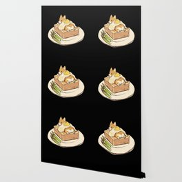 dog on sandwich Wallpaper