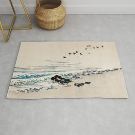 Beach Scenery Traditional Japanese Landscape Rug
