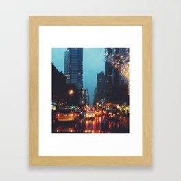 Rainy NYC Framed Art Print