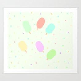 Smoothy Ice-Creams Art Print
