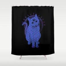 Trippy Cat: 4 Shower Curtain