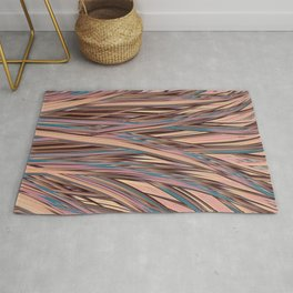 LYON pink peach turquoise brown glowing tall grass Rug