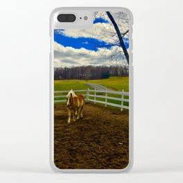 Horse Ranch Clear iPhone Case