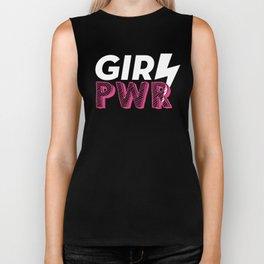 GRL PWR Hot Pink Typography Biker Tank