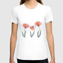 Spring Flower Trio Peach  T-shirt