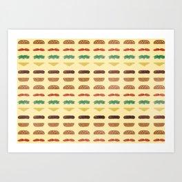 Build a Burger Art Print