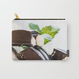 Chocolate with nuts and green mint A Carry-All Pouch