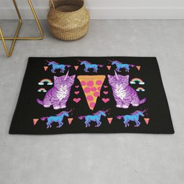 Kittycorn Pizza Rainbows Rug