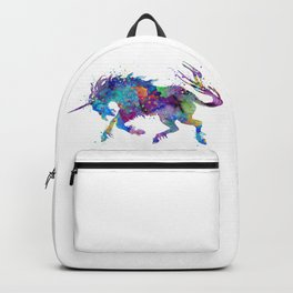 Unicorn Watercolor Silhouette Backpack