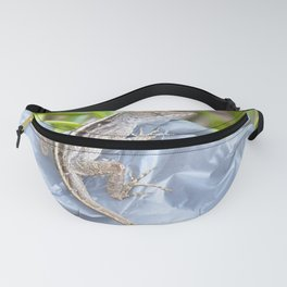 Watercolor Human Impact, Trash 02, Brown Anole on Plastic Bag Fanny Pack