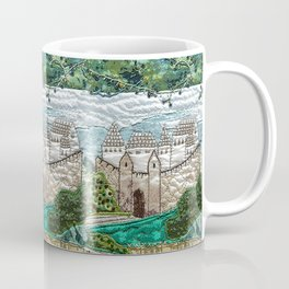 Old castle in blue Coffee Mug