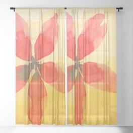 Retro Botany Sheer Curtain