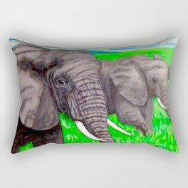 The Majestic Ones, African Elephants Rectangular Pillow