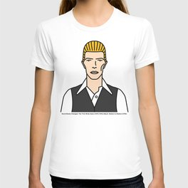 Bowie Changes – The Thin White Duke (1975–1976) T-shirt