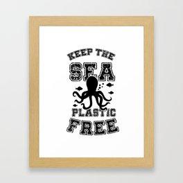 Keep the Ocean Plastic Free Dolphin Framed Art Print