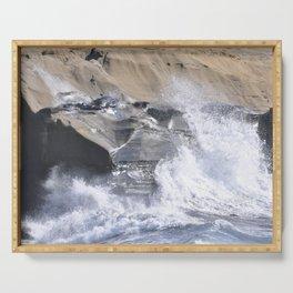 SPLASHING OCEAN WAVE Serving Tray