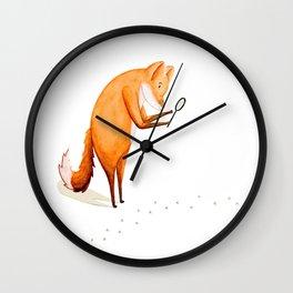 Foxy Detective Wall Clock