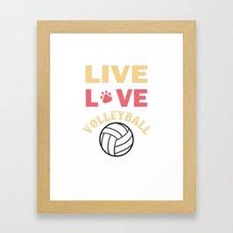 Volleyball Sports Team Team power gift Framed Art Print