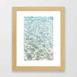 Clear Blue Water Crete, Greece   Fine Art Travel Photograpy Print  Framed Art Print
