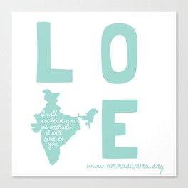 Love India Canvas Print