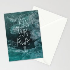 Let's Run Away - Ocean Waves Stationery Cards