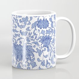 Chinoiserie Vines in Delft Blue + White Kaffeebecher