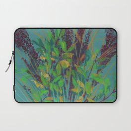 Autumn bouquet on teal background Laptop Sleeve