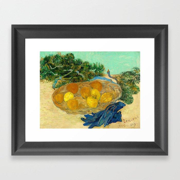 Van Gogh Still Life with Lemons and Oranges Gerahmter Kunstdruck