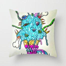 Ice Scream Throw Pillow