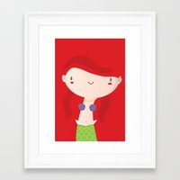 ariel Framed Art Prints featuring Ariel by Maria Jose Da Luz
